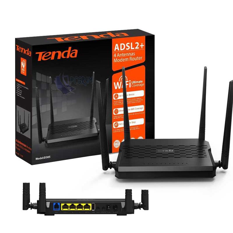 مودم Tenda D305 ADSL2+ 300Mbps